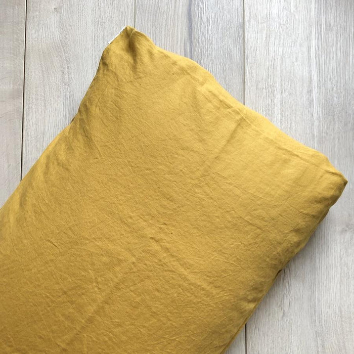 Mustard PILLOWCASE, 7pm linen, Mika and Max