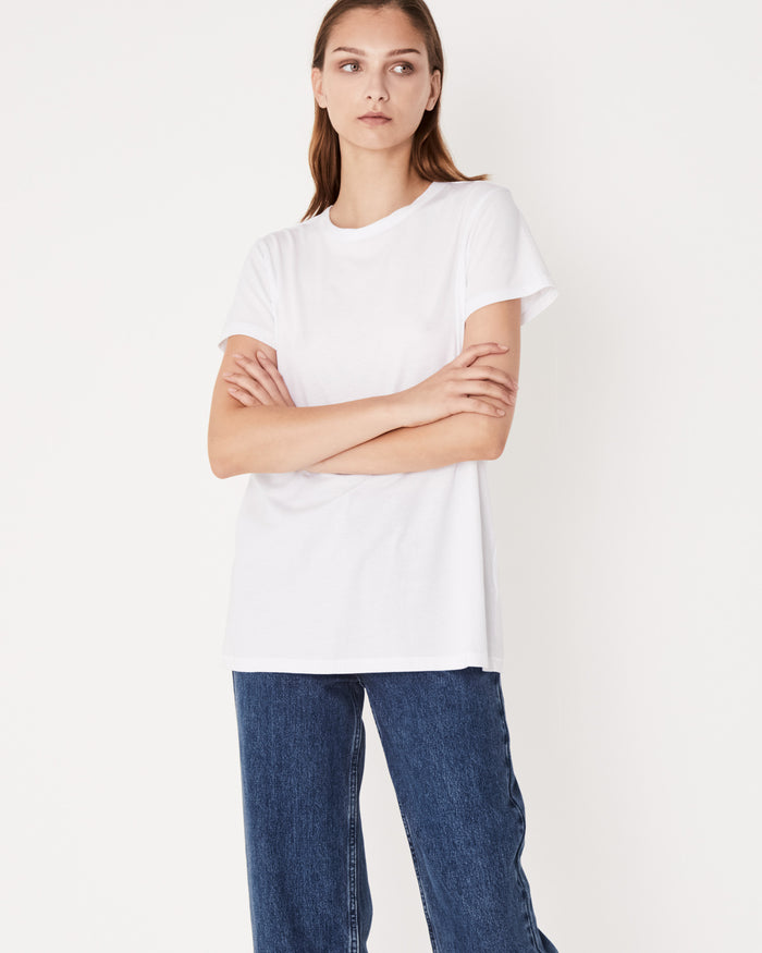 Classic tee white, assembly label