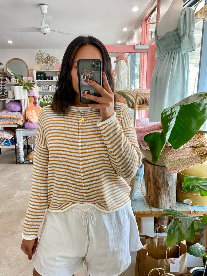 Stripe Knit Yellow