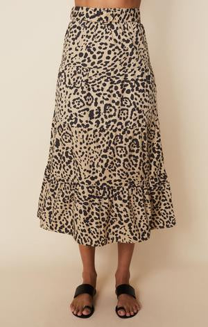 Farida Midi Skirt Shamari Animal Print