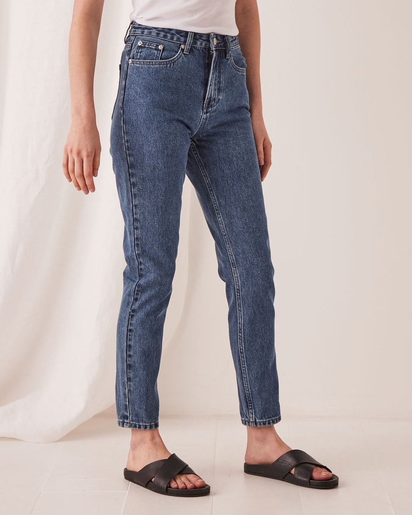 High Waist Rigid Jean Vintage Blue