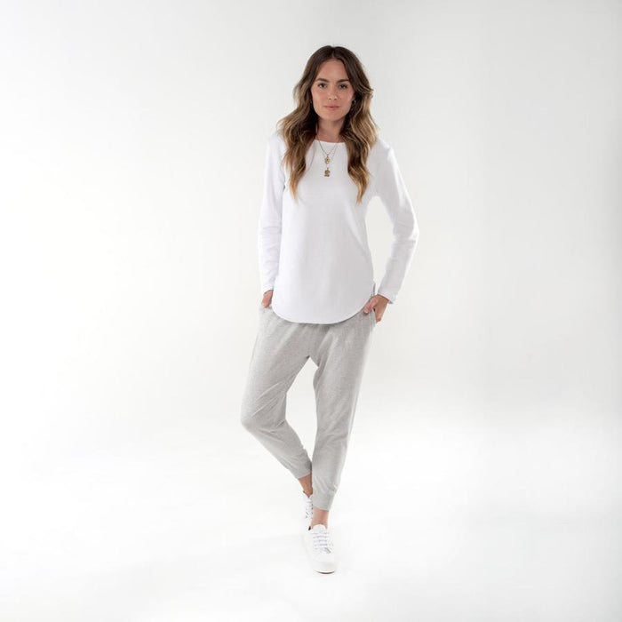 Novah Pant grey Marle, cle the label