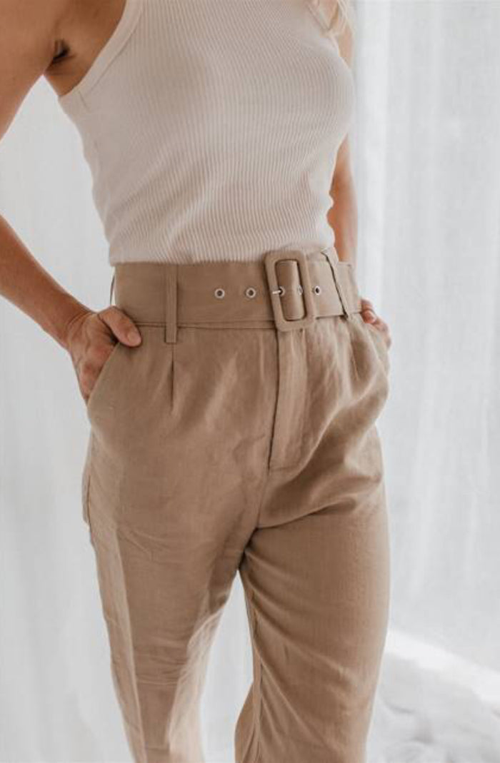 Belted Pants Brown