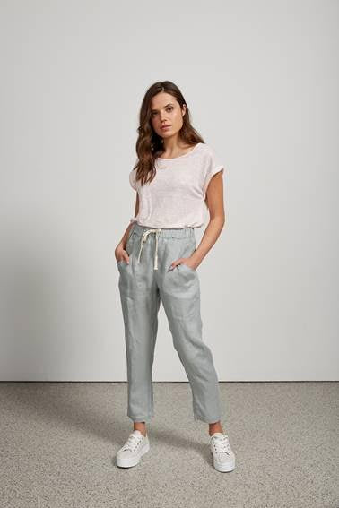 Luxe linen pant mint, little lies the label, Mika and max