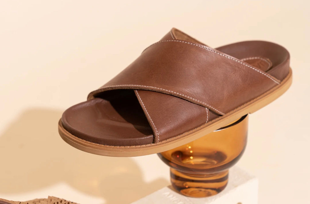 'La Sponda Slide'- Brown vintage