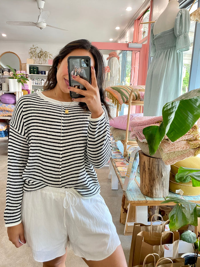 Stripe Knit Black