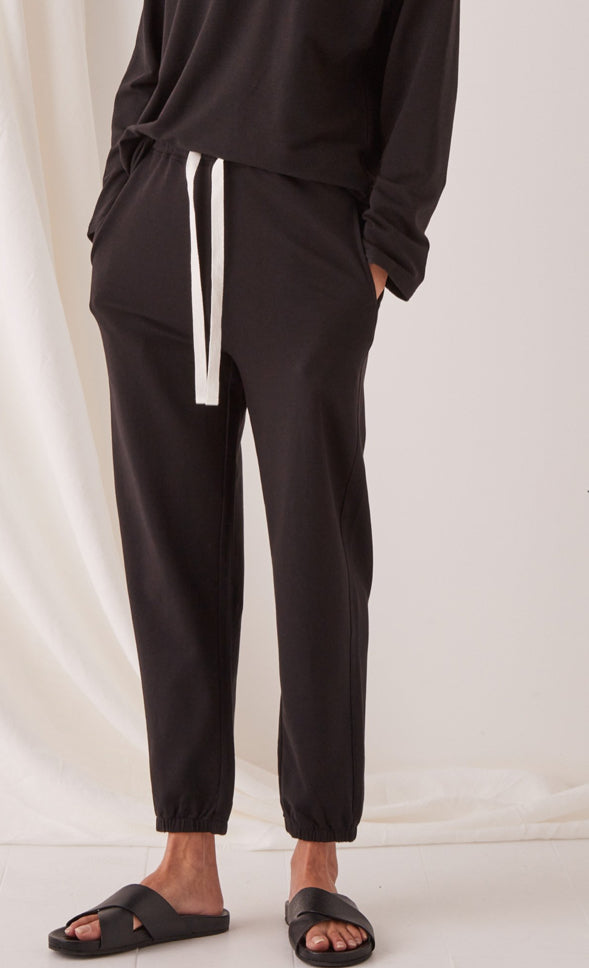 Kin Fleece Trackpant Black