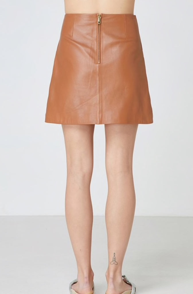 Lucette Leather Skirt, Skirt, Elka Collective - Mika and Max