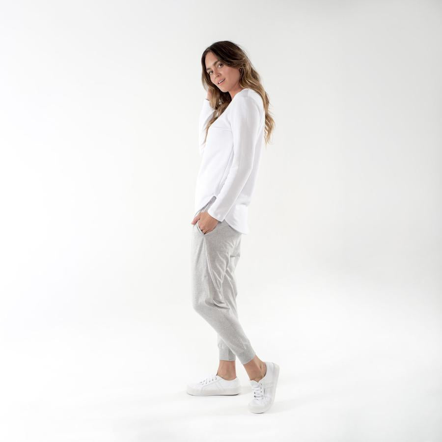Novah Pant by CLÉ Grey Marle
