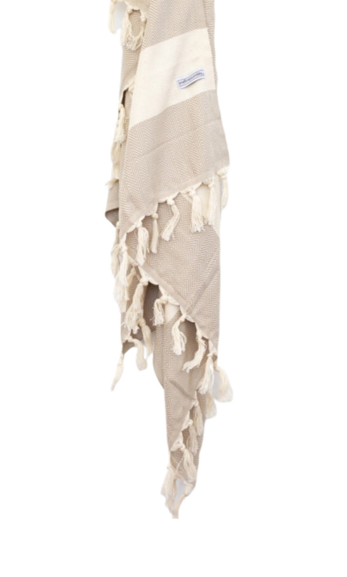 Zigzag Turkish Towel - Beige