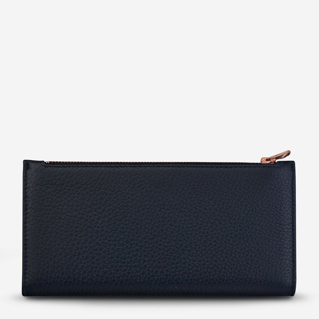 In the Beginning Wallet Navy, Wallet, Status Anxiety - Mika and Max