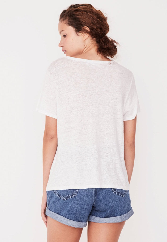 Linen Tee White, tee shirts, Assembly Label - Mika and Max