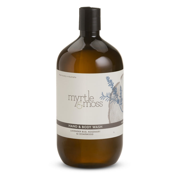 Lavender bud body wash refill, myrtle and moss