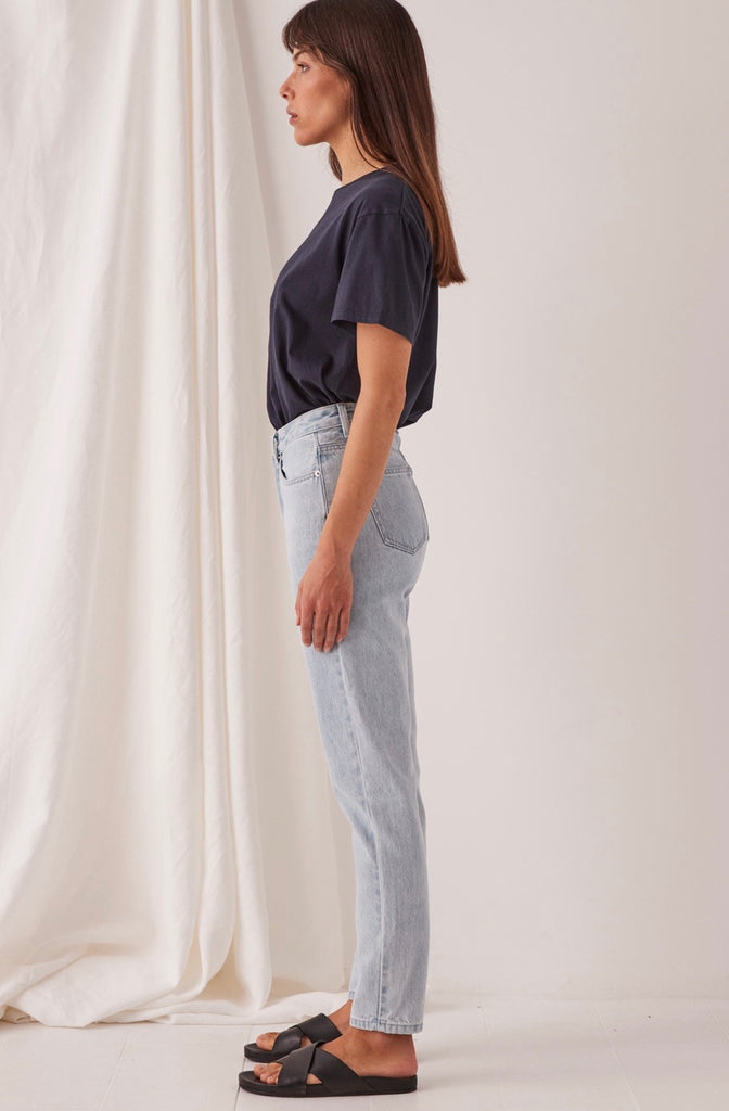 High Waist Rigid Jean Pacific Blue