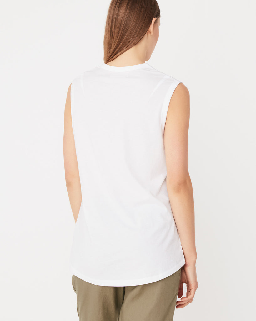 Scoop Tank White