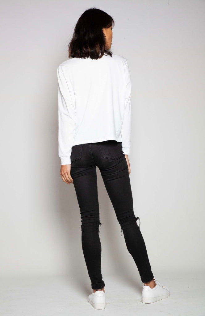 Long Sleeve Vintage Tee - White, Top, Casa Amuk - Mika and Max