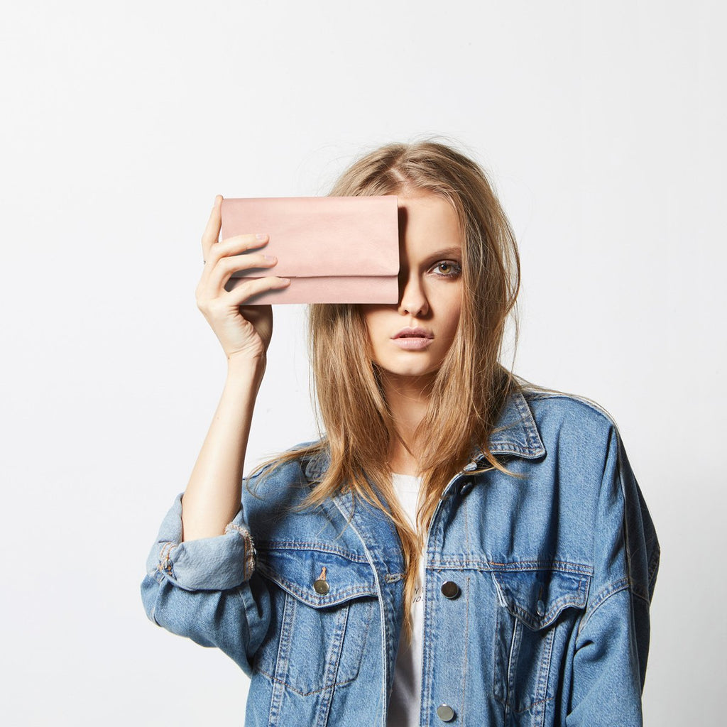 Audrey Wallet Dusty Pink