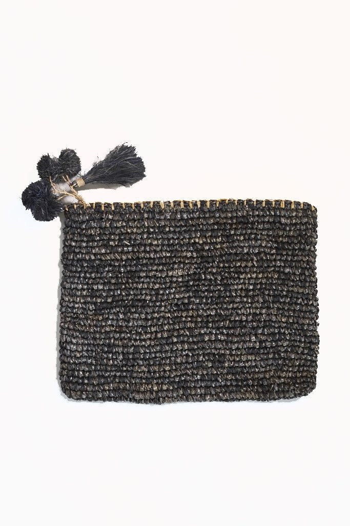 Isla Clutch Large - Charcoal, Clutch, Poppy & Co - Mika and Max