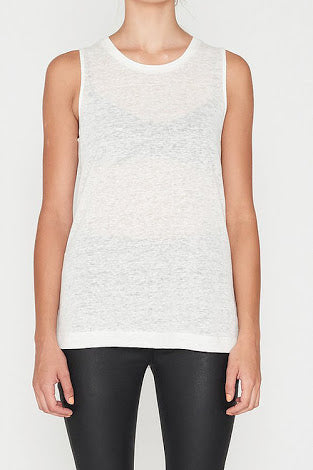 E.C Linen Tank - White, Tank, Elka Collective - Mika and Max