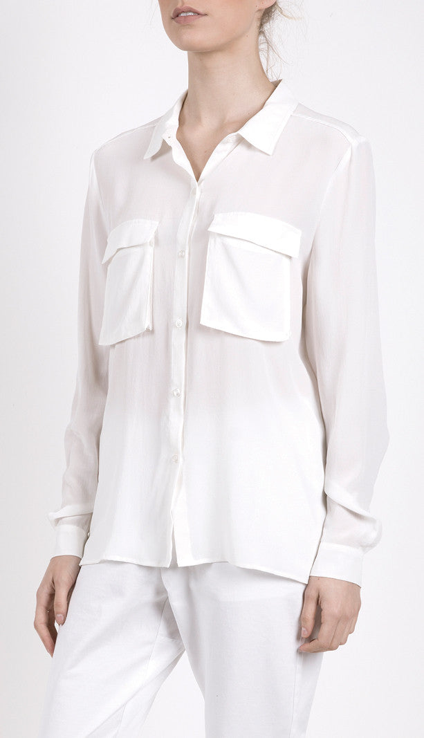 Silk Shirt White, Shirt, Elka Collective - Mika and Max