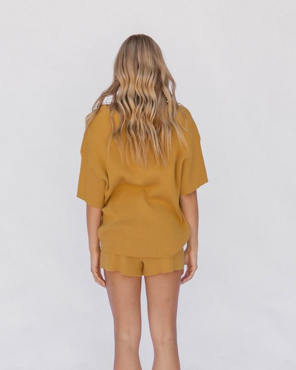 Alex Knit Short Mustard