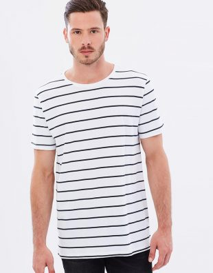 Men's Crew Neck Tee Classic Stripe, Tee, Casa Amuk - Mika and Max
