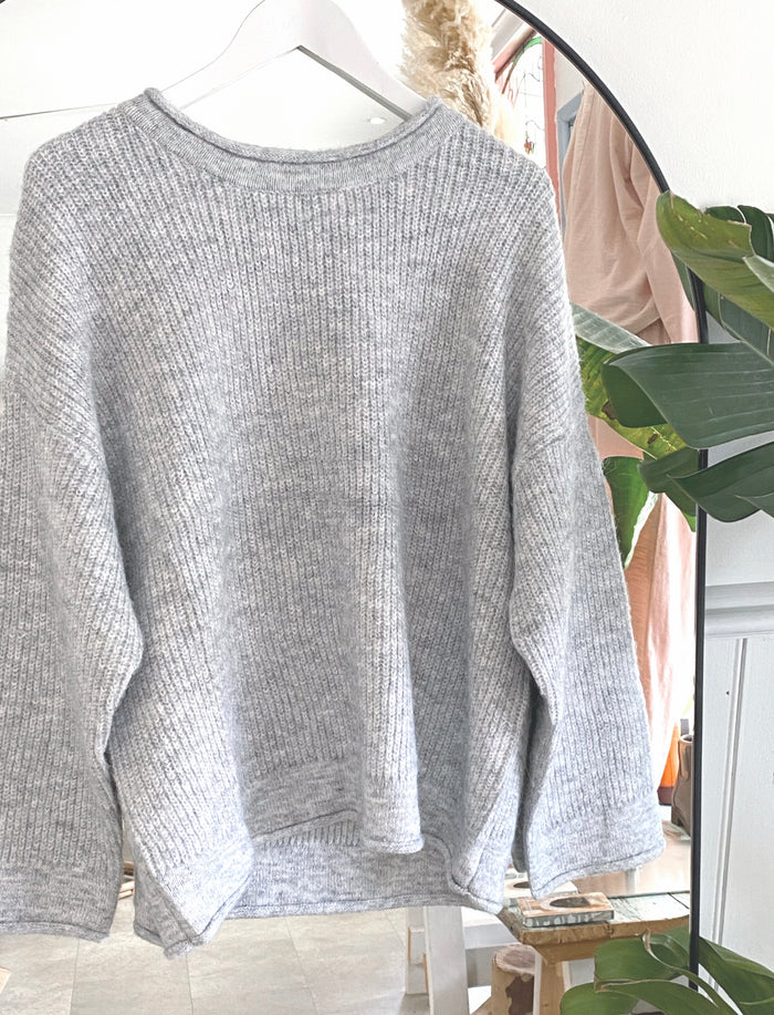 Lucy Knit Grey Marle