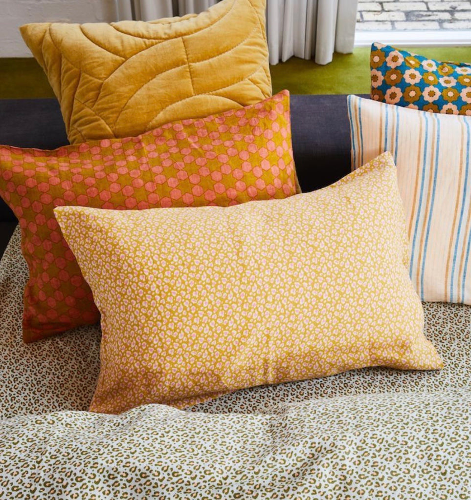AJO LINEN PILLOWCASE SET - HONEY, Homewares, Sage and Clare - Mika and Max