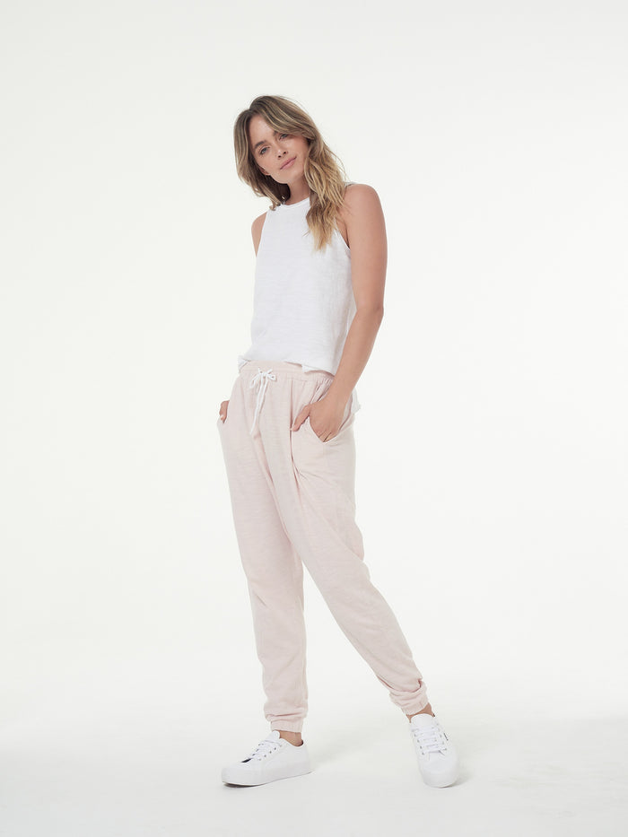 aybrey jogger blush, cle the label, mika and max