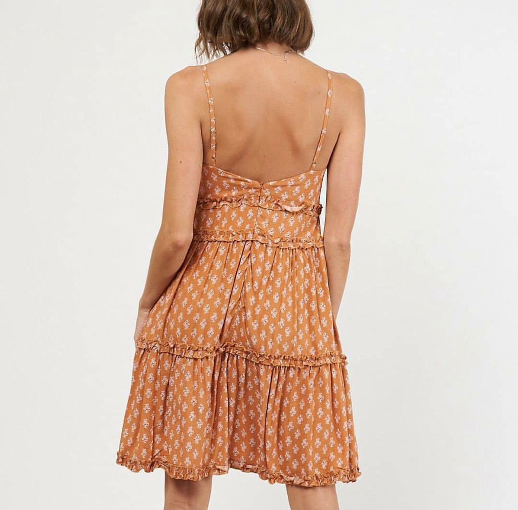 Rachel Dress in Rust