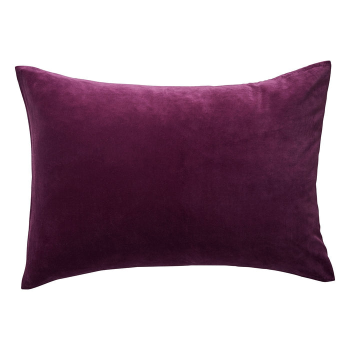 Simo Velvet Boysenberry Pillowcase