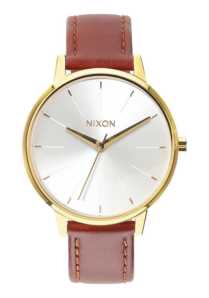 Kensington Leather - Gold / Saddle, Watch, Nixon - Mika and Max