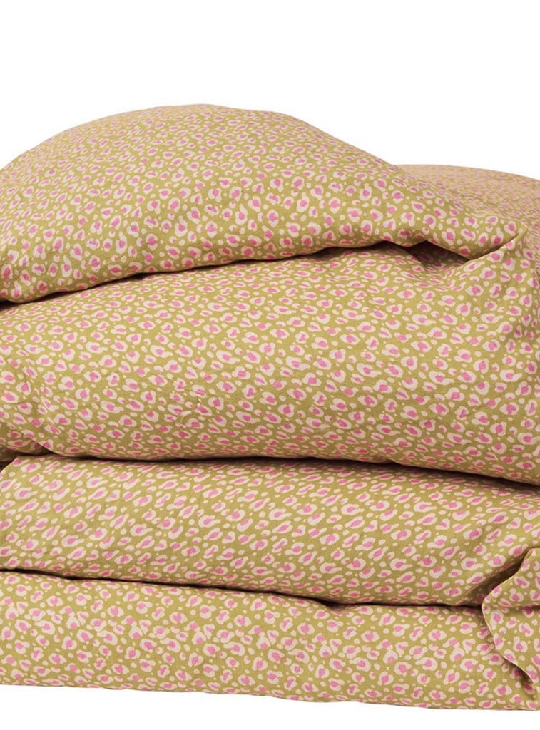 AJO LINEN QUILT COVER - HONEY KING, Homewares, Sage and Clare - Mika and Max