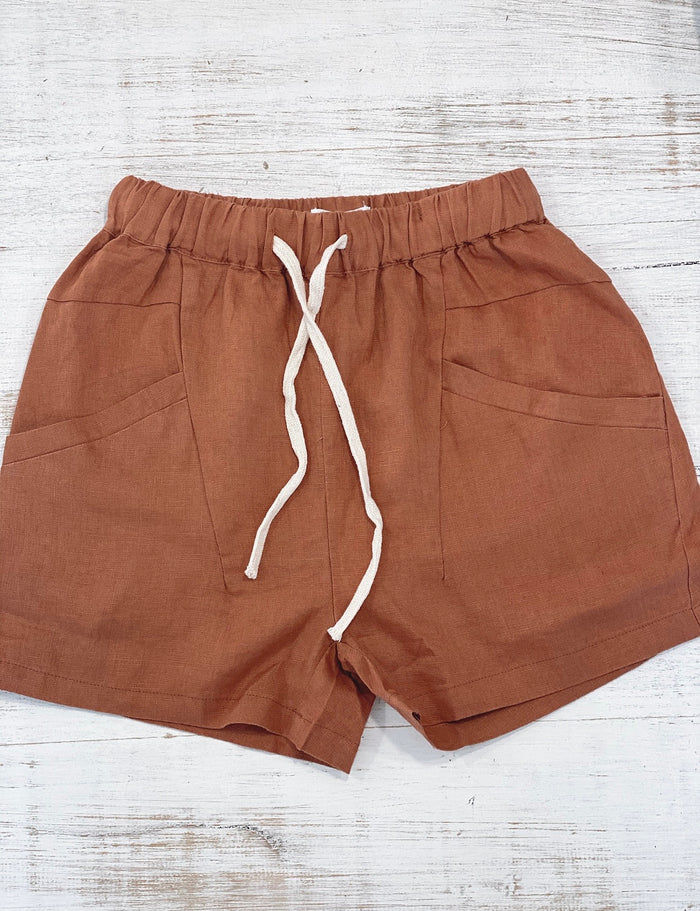 LUXE SHORT - RUST