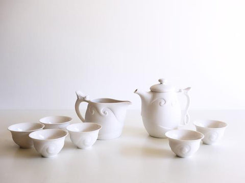 Tebi Breeze Teaware Tea Set - White - NEW!