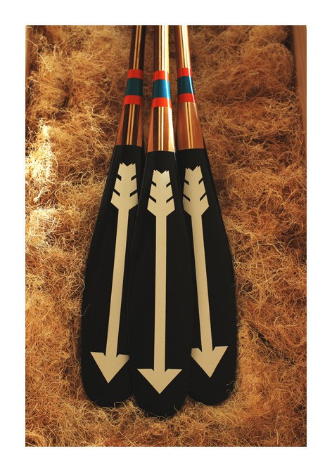 Artisan Painted Paddle- North - Echtra Outfitters  - 7