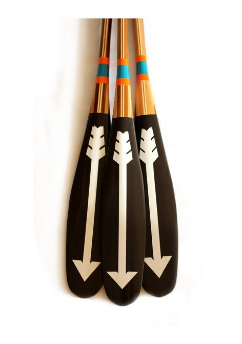 Artisan Painted Paddle- North - Echtra Outfitters  - 2