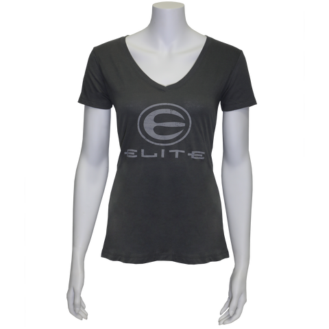 Elite Logo Dark Gray Ladies Tee