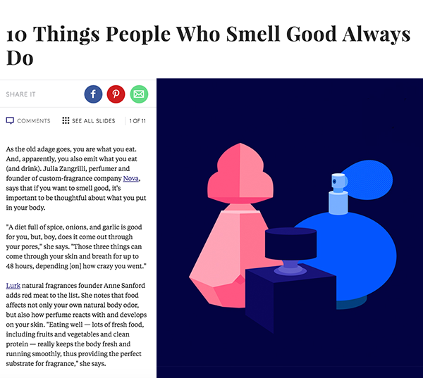 Lurk featured in Refinery29 How to Smell Good Always