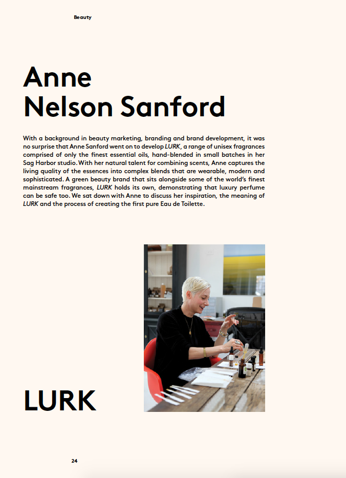 Anne Nelson Sanford of Lurk, Nourished Journal Winter 2015