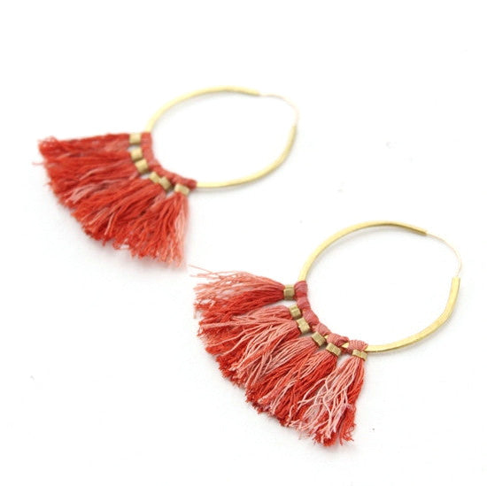 Ornament Hoop Earrings