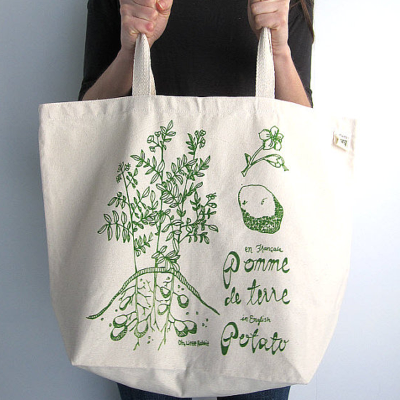 Potato Tote Bag by Oh, Little Rabbit