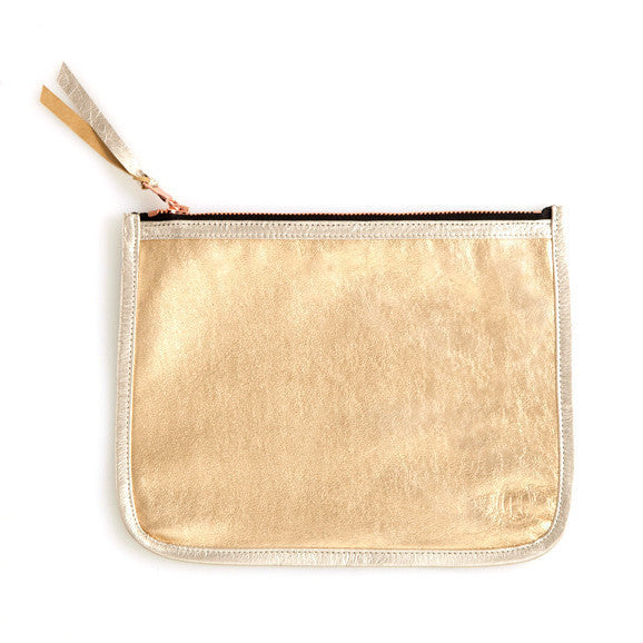 Shawn Burke Gold Neccessaire Bag