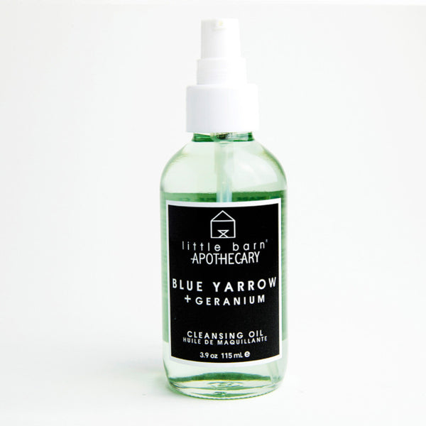 Blue Yarrow + Geranium Cleansing Oil by Little Barn Apothecary