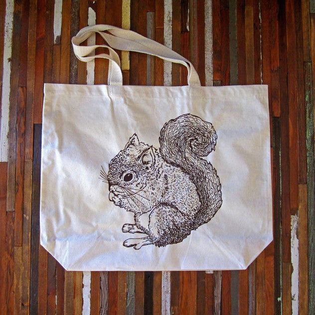 Oh, Little Rabbit Squirrel Tote Bag