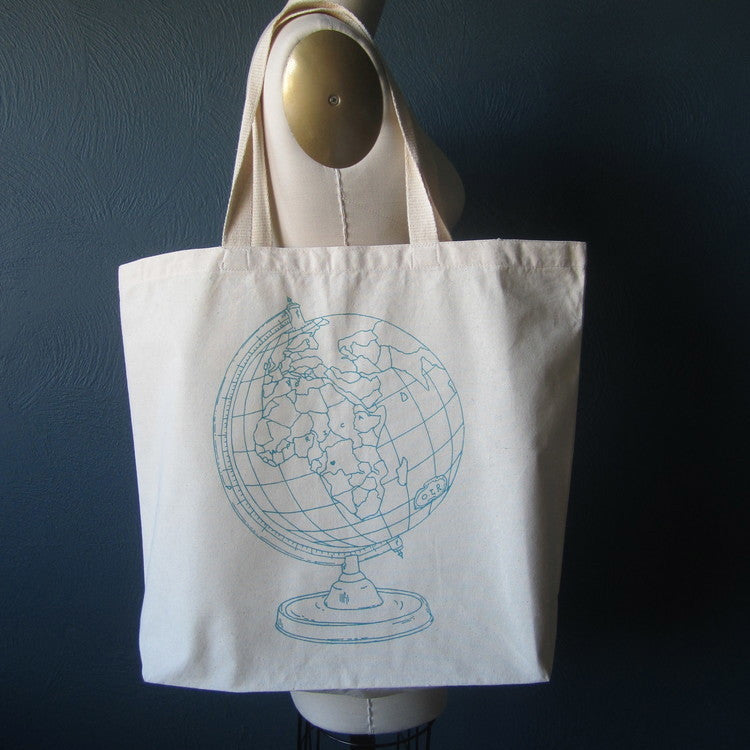Oh, Little Rabbit Globe Tote Bag