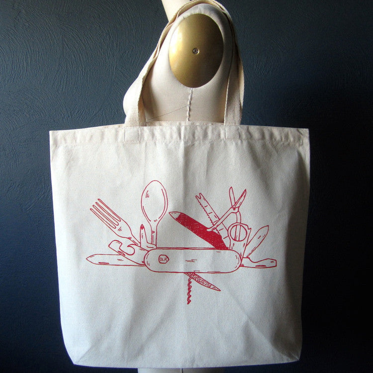 Pocket Knife Tote Bag by Oh, Little Rabbit