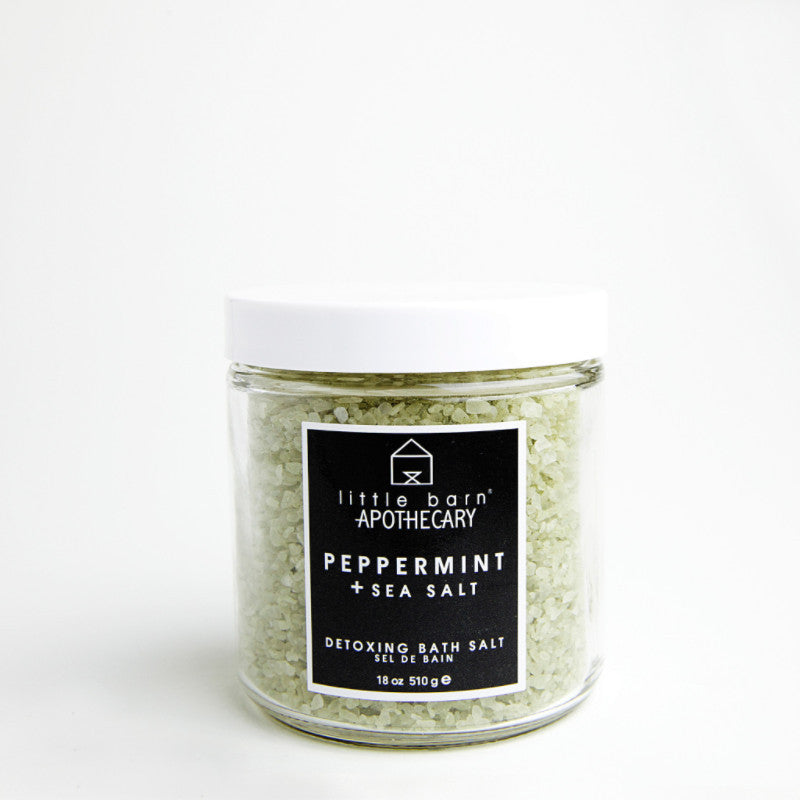 Peppermint + Sea Salt Bath Soak by Little Barn Apothecary