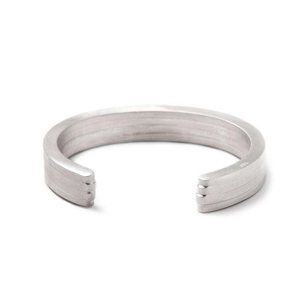 Layered Cuff Bracelet, Sterling Silver