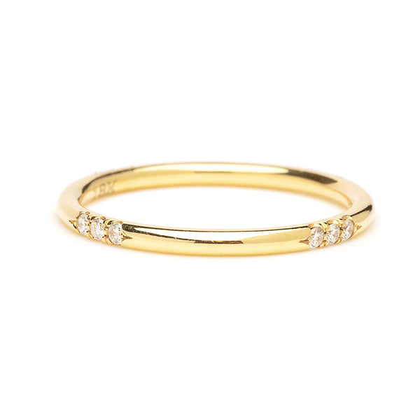 scattered diamond and gold band